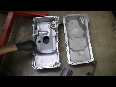 LS conversion swap part 40, Oil pump and windage tray