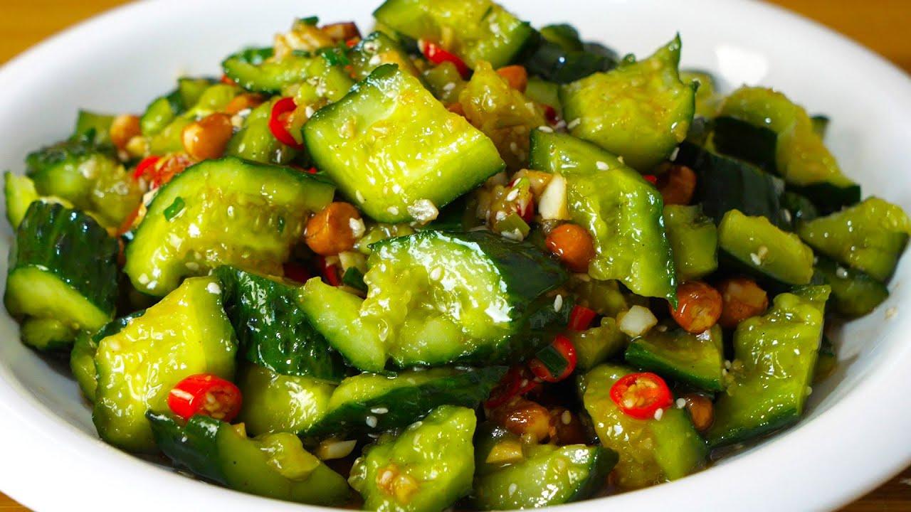 饭店的凉拌黄瓜为什么那么好吃?原来做法这么简单,3分钟学会!Cucumber recipe