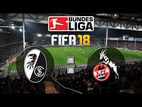 FIFA 18 Bundesliga Sport-Club Freiburg : 1. FC Köln | Gameplay Deutsch Livestream