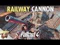 Fallout 4 Building A RAILWAY GUN Mod Updates Bedford Station Ep 2 mp3