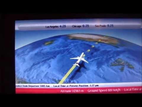 Emirates Boeing 777-300ER Moving Map Display EK225 DXB-SFO 07/25/2011