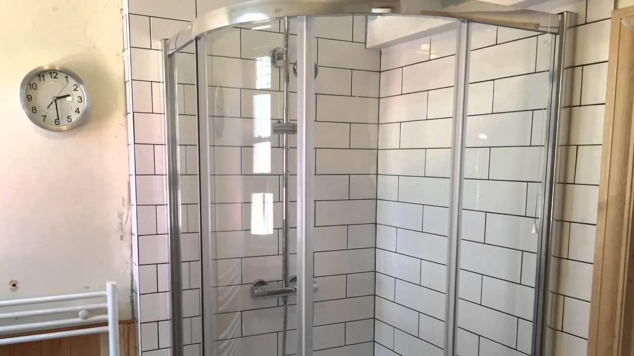 Re Tile Bathroom Before And After Job In Tonbridge Retile Move Door Install New