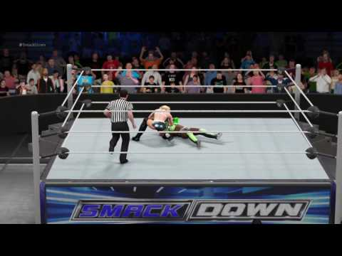 WWE 2K17 Lacey Von Erich VS Naomi In A 1 On 1 Simulated Match