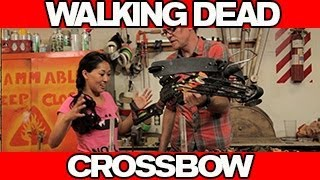 Walking Dead Crossbow Build with AtomicMari from Smosh!