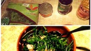 Мои любимые САЛАТЫ.Салат из  РУККОЛЫ, маслин и тунца.