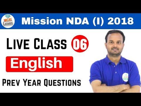 10:00 PM NDA(I) 2018 I Defence Special by Sanjeev Sir | English | अब वर्दी दूर नहीं I Day#06