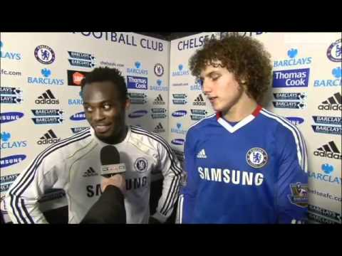 Chelsea Vs Manchester City 2-0 David Luiz & Essien Funny Interview 2011