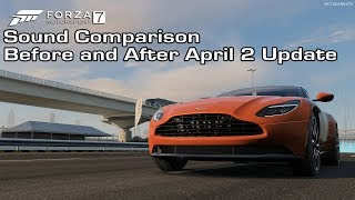 Forza Motorsport 7 - Aston Martin DB11 Sound Comparison - Before and After April 2 Update