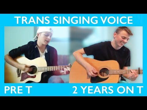 FTM Singing Voice on T Comparison (Pre T to 2 Years on T) || Jeff Miller