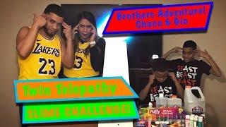 Twin Telepathy Slime Challenge!!! La Mama Argentina & El Hermano Dominicano VS Choco & GIO