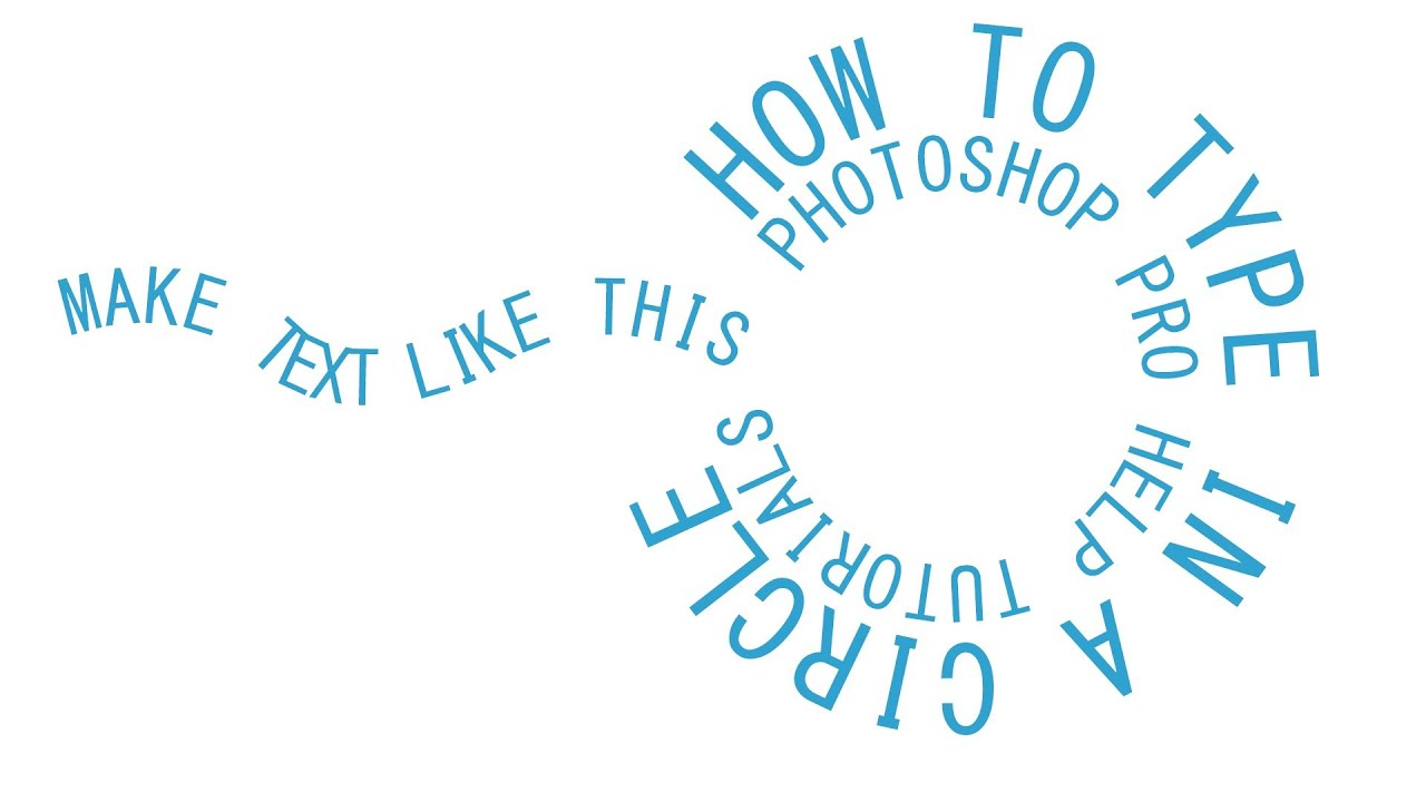 photoshop cs6 circular text around a path youtube