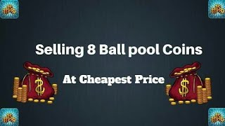 Selling pool coins in chepst rate