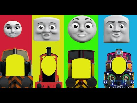 Thumbnail: Baby Learn, Thomas and Friends, Funny Face Swap, Finger Family Nursery Rhymes Toy Train Kids Cartoon