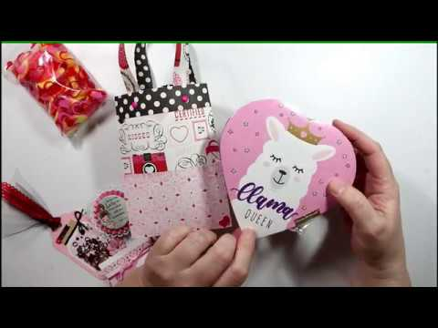 Valentine Bag Gift Package ~ Craft Project Share ~ DIY Gift Bags filled with lots of Goodies