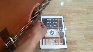Căng Dây Đàn Guitar Bằng  App Guitar Tuner Trên Ipad,Điện Thoại.
