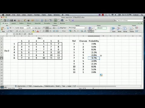 How to Use Excel to Calculate Probabilities : Advanced Microsoft ...
