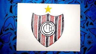Dibuja el escudo oficial del Chacarita Juniors de Argentina