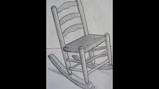 Rocking Chair: Drawing by Paul Cumes July 2009