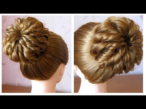 Chignon Facile Coiffure Simple Et Rapide Cheveux Mi Long Long Easy Hair Bun Tutorial Youtube