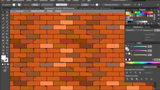 Уроки Adobe llustrator Как нарисовать кирпичную стену