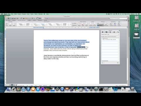 How to create citations (quotes) and references using MS Word on a Mac
