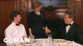 Conan learns the finer points of Dixie etiquette and manners. First lesson: no mashed potato scooping at the table.More CONAN @ http://teamcoco.com/video ...