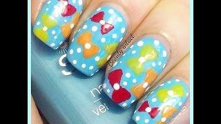 Cute Bow & Polka, Beginners nail art | Beauty Intact Thumbnail