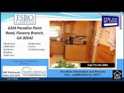 5 Bedroom House for sale near Flowery Branch Elementary School in Flowery Branch GA