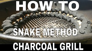 Charcoal Snake Method on a Weber BBQ Kettle - Que Tips - Whisky and BBQ