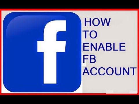 how to activate disabled Facebook account || recovering disabled facebook account 2017
