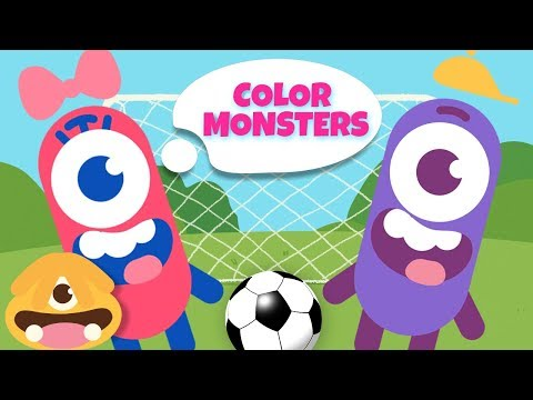 Learn Colors With Color Monsters - New Episodes | Play Football Funny Cartoon for Kids & Color Song
