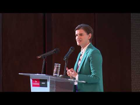 Ana Brnabić at The Economist's Seventh EU-Southeast Europe ...