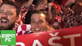 Croatian fans celebrate as Messi lacks involvement during Argentina