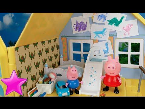 Peppa Pig El nuevo dormitorio de George Videos de Juguetes Peppa Pig