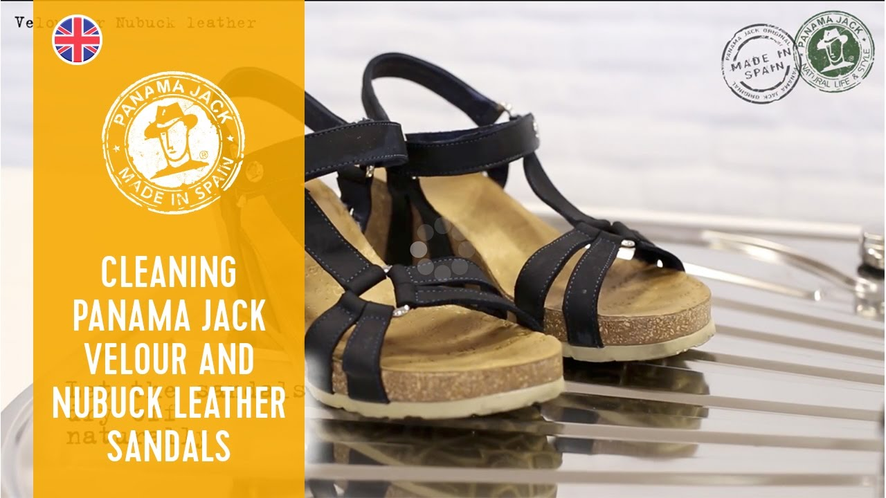 How To Clean Your Panama Jack Split Leather And Nubuck Leather Sandals