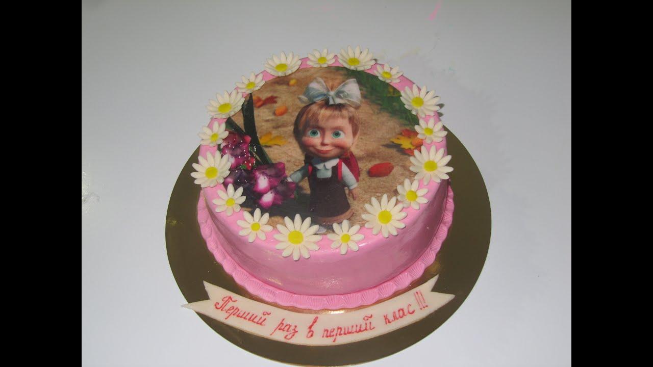 как правильно положить вафельную картинку на торт