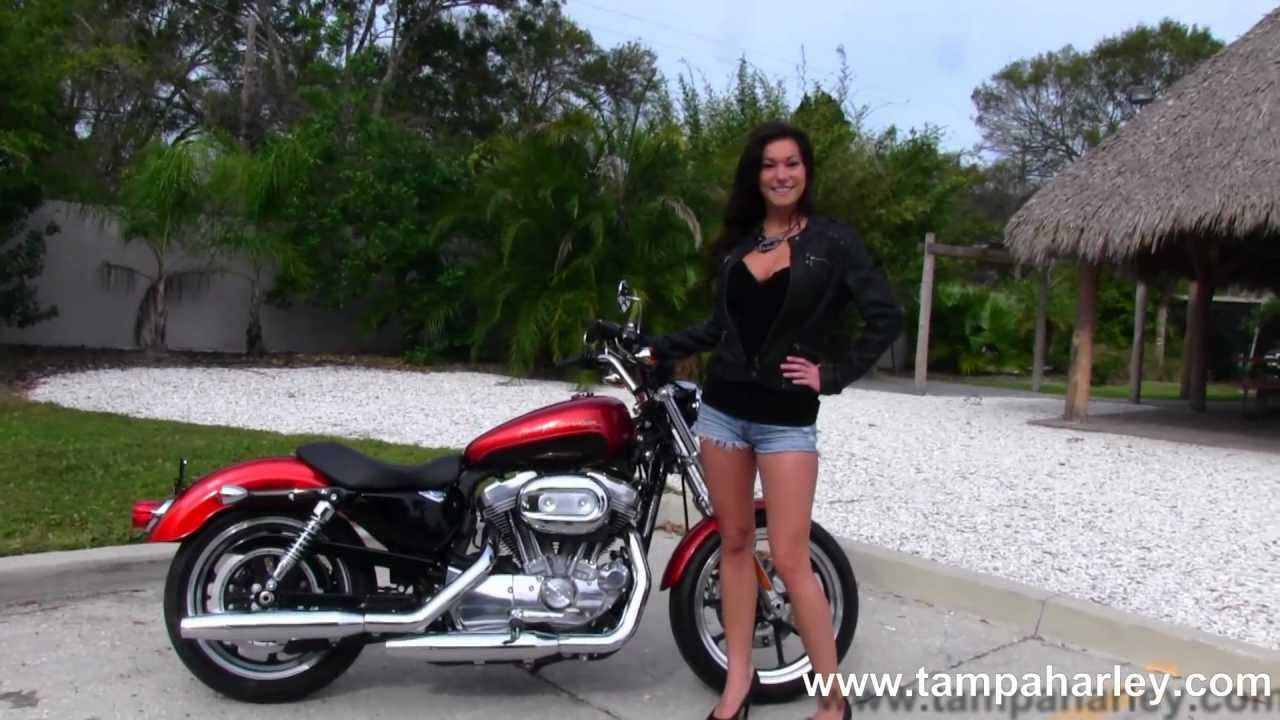 Harley Sportster For Sale >> New 2013 Harley-Davidson XL1200C Sportster 1200 Custom for sale - Candy Orange/Beer Bottle - YouTube