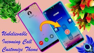 Mind blowing incoming call theme || How to set my photo in incoming call theme background