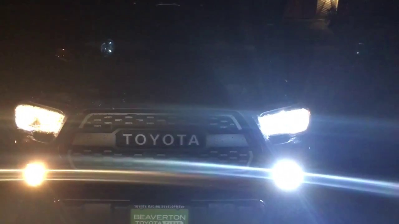 2017 Toyota Tacoma Trd Off Road Auxbeam Led Bulb Unboxing And Installation Review