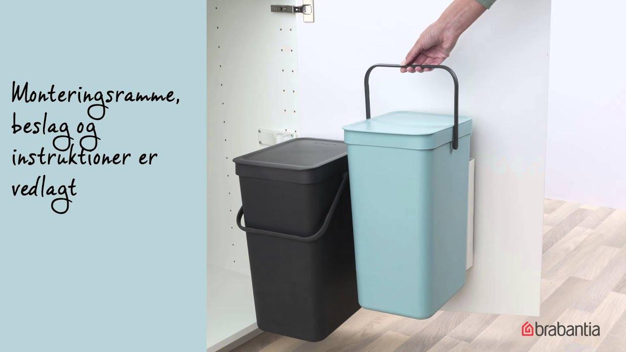 brabantia sort go affaldsspande youtube. Black Bedroom Furniture Sets. Home Design Ideas