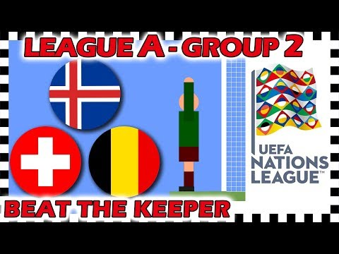 Marble Race - UEFA Nations League 2018/19 Prediction - League A - Group 2 - Algodoo
