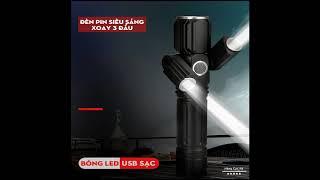 Đèn pin siêu sáng mini cầm tay + Tặng dây sạc micro usb - Fullbox - Hàng Cực Rẻ