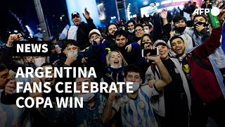 Argentina fans celebrate C๐pa America triumph while Brazil fans shocked at loss | AFP