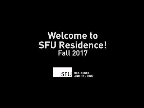 Welcome to SFU Residence! Fall 2017