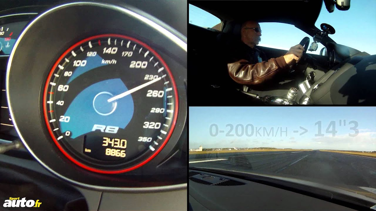 0 300 Kmh Audi R8 V10 Spyder Youtube