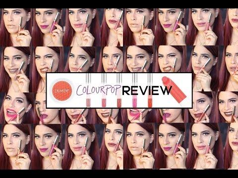 קולורפופ סווטצ'ים ( אודמים עמידים )   colourpop liquid lipstick