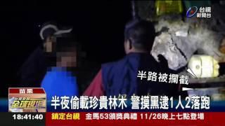 山老鼠撈颱風財冒險渡溪運木遭查獲