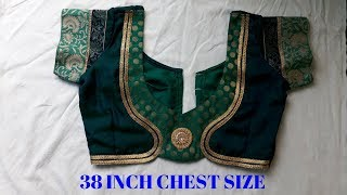 amazing and beautiful blouse back neck design cutting and stitching