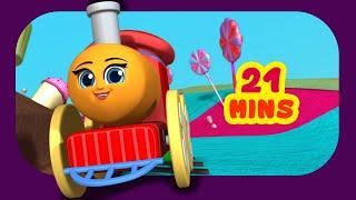 Five Little Babies - Train Song | Rhymes for Children | Infobells