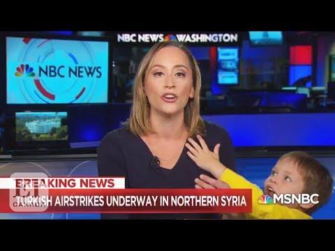 Reporter's Son Interrupts Live Broadcast